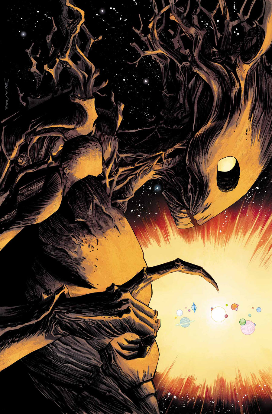 Groot #1, copertina di Declan Shalvey