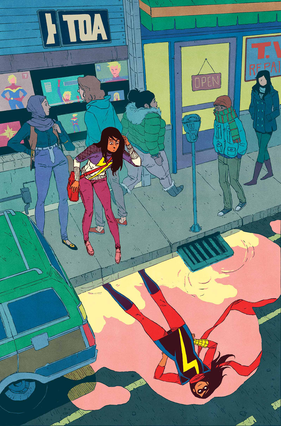 Ms. Marvel #15, copertina di Jake Wyatt
