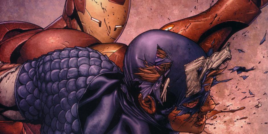Lotta tra i protagonisti di Civil War nel fumetto