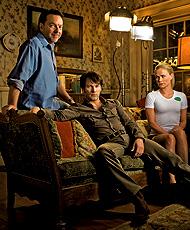 Alan Ball sul set di True Blood con Stephen Moyer e Anna Paquin