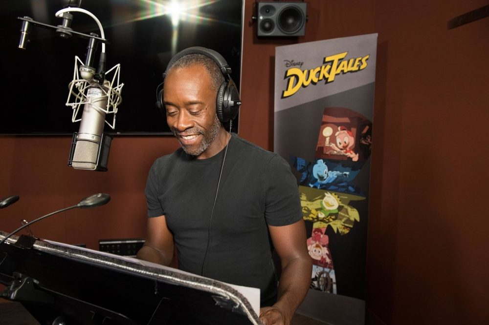 """DUCKTALES - Don Cheadle recording for the role of Donald Duck's voicebox in Disney's """"Ducktales."""" (Disney Channel/Todd Wawrychuk)<br /> DON CHEADLE"""